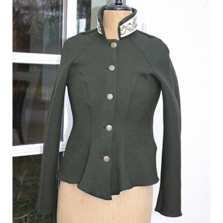 Grøn jakke i Uld